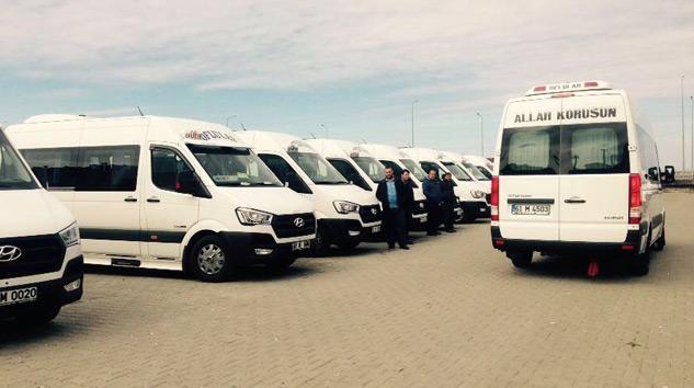 55 Adet Hyundai H350  Trabzon'da Yolcu Taşıyacak