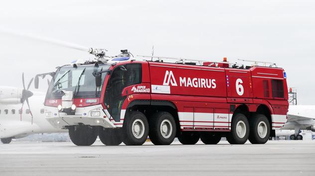 Allison Şanzımanlı Magirus Superdragon Stuttgart'ta X8 Hizmette