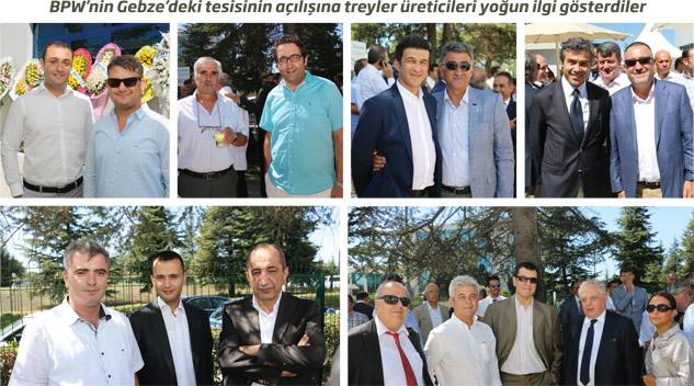 BPW'nin Gebze'deki tesisinin açılışına treyler üreticileri yoğun ilgi gösterdiler