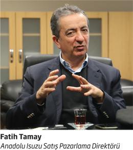 Anadolu Isuzu Satış Pazarlama Direktörü Fatih Tamay