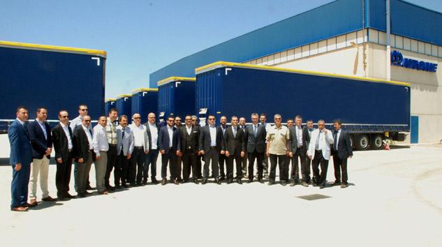 Krone Müşterileri Tire Fabrikasını Ziyaret Ettiler