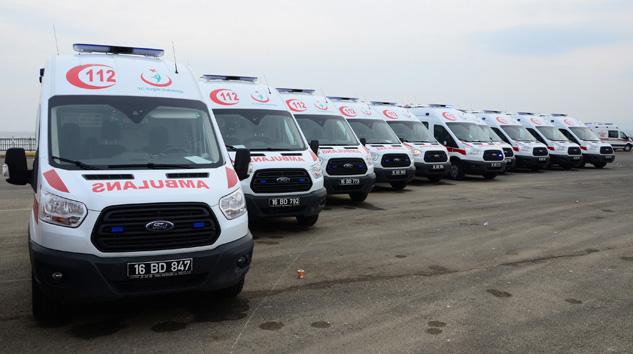 Otokoç'tan Sağlık Bakanlığına 550 Ambulans