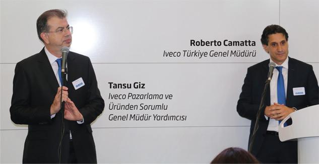 Iveco Türkiye Genel Müdürü Roberto Camatta  - Iveco Pazarlama ve Üründen Sorumlu Genel Müdür Yardımcısı Tansu Giz