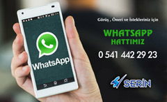 Serin Treyler Whatsapp hattı kurdu